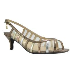 Women's J. Renee Rebeka Slingback Sandal Metallic Multi Reptile Print Fabric/Mesh