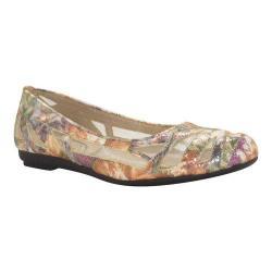 Women's J. Renee Tabetha Flat Dark Multi Pebble Floral Print Fabric/Mesh