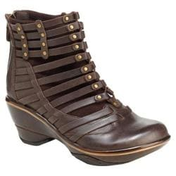 Women's Jambu Candy Bootie Brown Vintage Leather