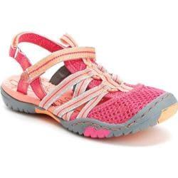 Girls' Jambu Rhea Amphibious Sandal Pink/Coral Textile/Synthetic