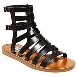 Women's Steve Madden Beeast Gladiator Sandal Black Leather