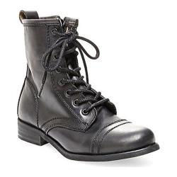 Women's Steve Madden Charrie Combat Boot Black Leather