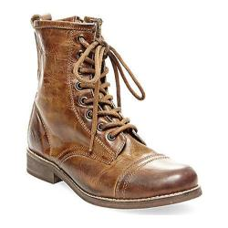 Women's Steve Madden Charrie Combat Boot Cognac Leather