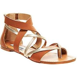 Women's Steve Madden Honore Strappy Sandal Cognac Leather/Synthetic