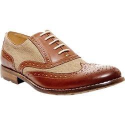 Men's Steve Madden Giondo Wing Tip Oxford Tan Multi Leather