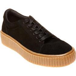 Women's Steve Madden Holllly Creeper Platform Sneaker Black Suede