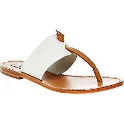 Women's Steve Madden Oliviaa Thong Sandal White Multi Leather