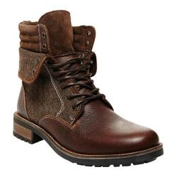 Men's Steve Madden Splinter Lace-Up Boot Brown Leather/Canvas