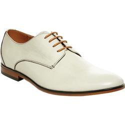 Men's Steve Madden Trotter Plain Toe Oxford Off White Leather
