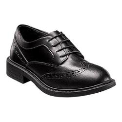 Boys' Florsheim Studio Wing Tip Oxford Jr. Black Leather