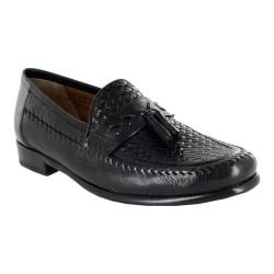 Men's Florsheim Swivel Weave Black Woven Leather/Milled Leather