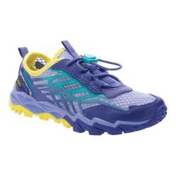 Girls' Merrell Hydro Run Sneaker Blue/Turquoise/Yellow Synthetic/Mesh