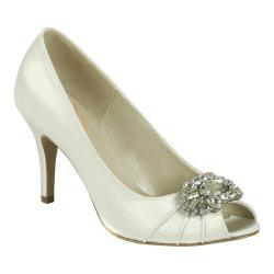 Women's Pink Paradox London Tender Peep-Toe Pump Ivory Satin