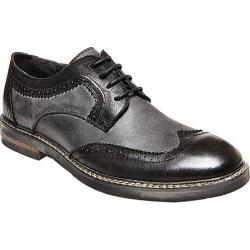 Men's Steve Madden Foutzz Wing Tip Oxford Black/Grey Leather