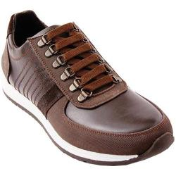 Men's Steve Madden Nexxis Sneaker Brown Leather/Textile