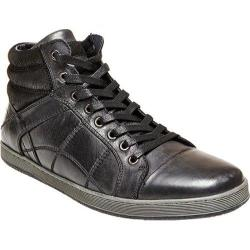 Men's Steve Madden Pavano High Top Black Leather