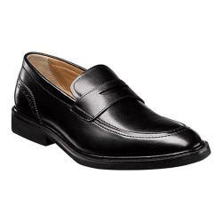 Men's Florsheim Hamilton Penny Slip On Black Smooth Leather