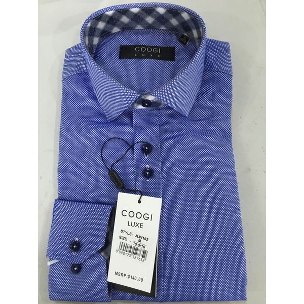 Coogi Mens Navy Dress Shirt