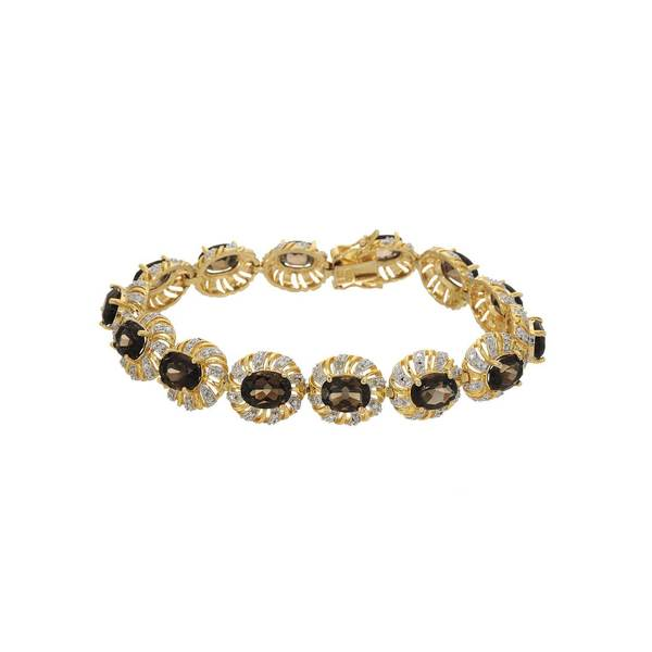 Gold over Silver 15ct TW Topaz Bracelet