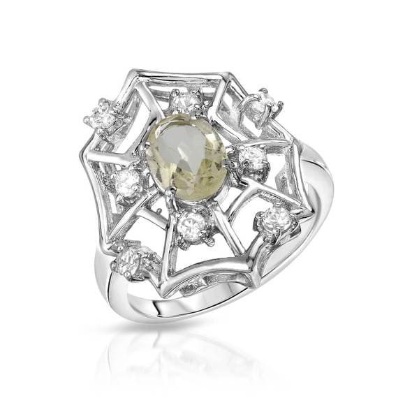 Sterling Silver 1ct TW Quartz Ring (Size 7)