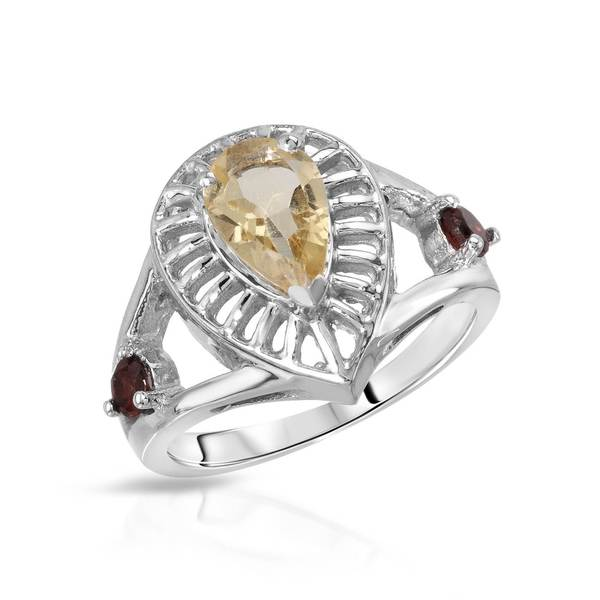 Sterling Silver 1 1/3ct TW Citrine Ring (Size 7.5)
