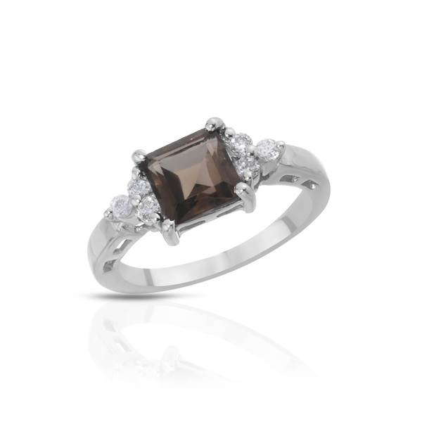 Sterling Silver 2ct TW Topaz Ring (Size 8)