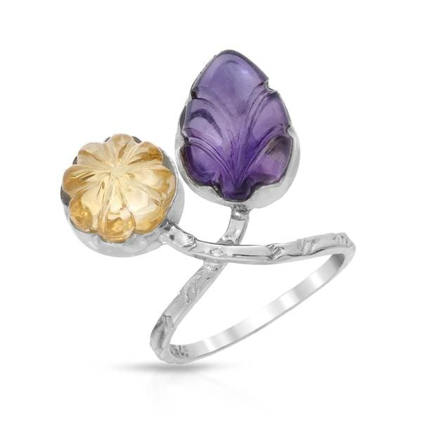 Sterling Silver 10 1/6ct TW Amethyst Ring (Size 7)