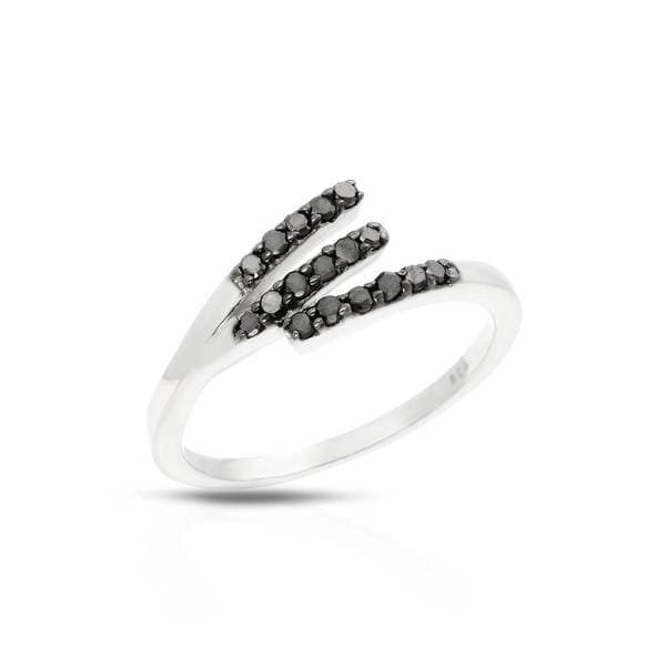 Sterling Silver 1/4ct TDW Diamond Ring (Size 6)
