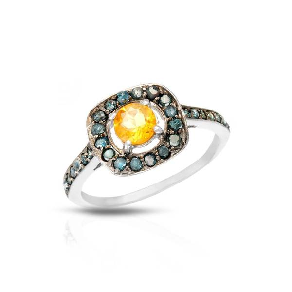 Sterling Silver 1ct TW Citrine Ring (Size 7)