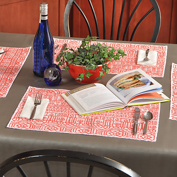 Devada Indian Coral Placemats (Pack of 4)