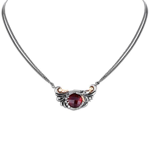 Stephen Webster Jewels Verne Rose Gold Plated Silver Quartz Pendant Necklace