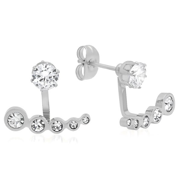 Cubic Zirconia Incline Ear Jacket