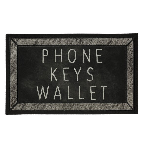 "Mohawk Home Doorscapes Keys Phone Wallet Check (1'6"" x 2'6"")"