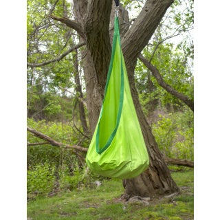 Sorbus Green Polyester/Cotton Hammock Pod Kids Swing/Chair Nook