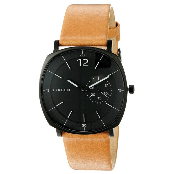 Skagen SKW6257 Rungsted Black Dial and Tan Leather Men's Watch