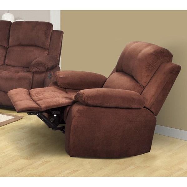 Oakley Brown Flannelette Reclining Chair