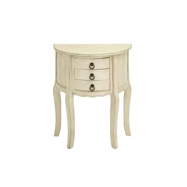 Wood distressed accent table inches wide