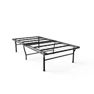 priage 18 inch high profile smartbase black platform bed frame king 18644452. Black Bedroom Furniture Sets. Home Design Ideas