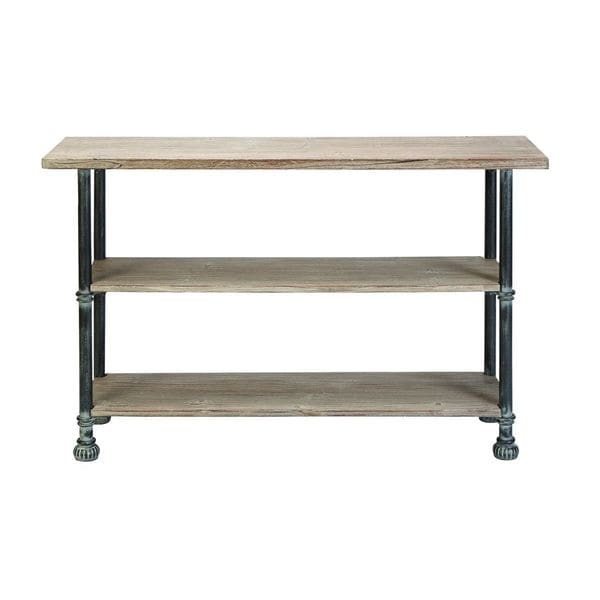 Wood metal console 48 inches wide x 32 inches high for Sofa table 48 inches