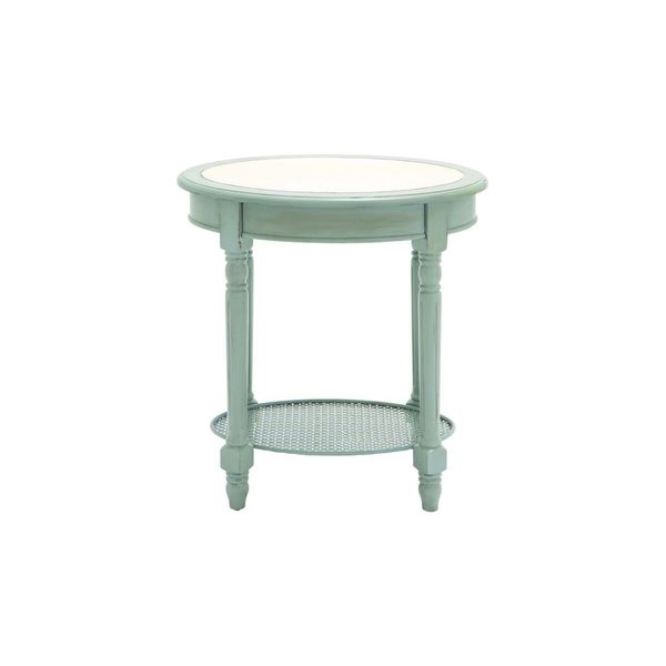 Wood oval accent table 24 inches wide x 26 inches high for Coffee tables 24 high