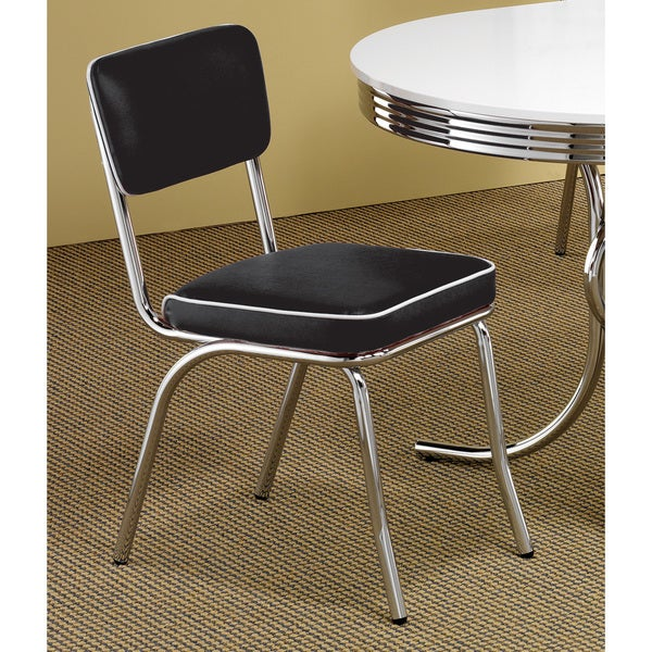 Black Chrome Plated Retro Dining Chair