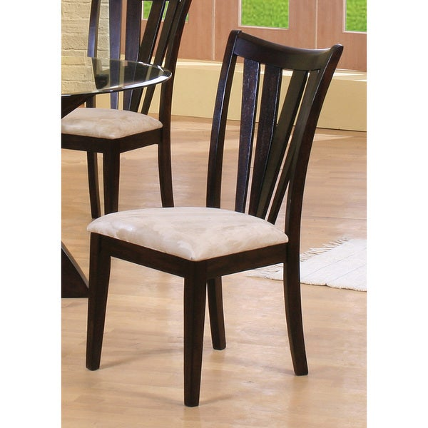 Brown Cappuccino Side Chair with Cream Cushion
