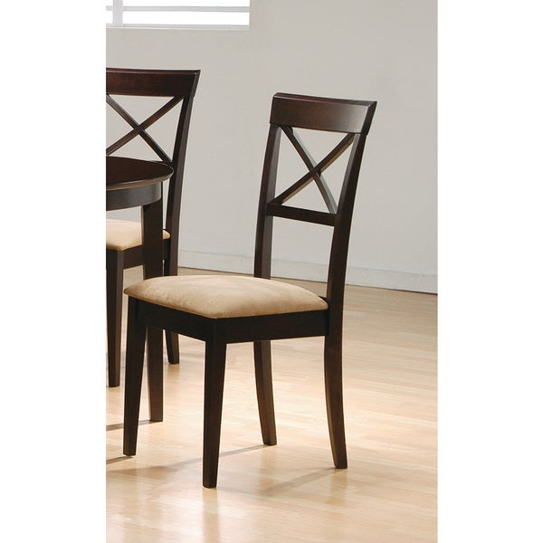 Brown Cross Back Cappuccino Chair