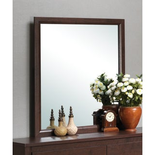 Red Wood Wall Mirror