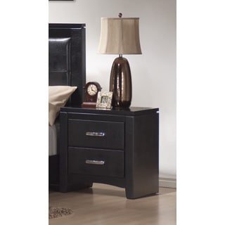 Coaster Company Dylan Black Leatherette Nightstand