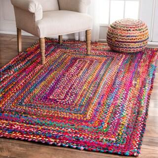 nuLOOM Casual Handmade Braided Cotton Multi Rug (2' x 3')