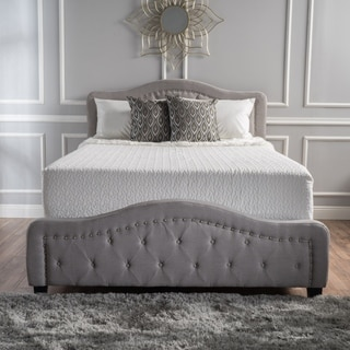 Christopher Knight Home Mathilde Studded Fabric California King Bed Set
