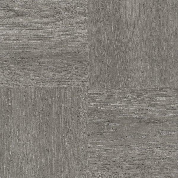 Nexus Charcoal Grey Wood Adhesive Vinyl Floor Tile (Set of 20)