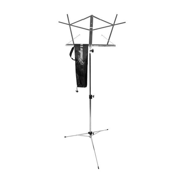 Hamilton KB900B Black Foldable Music Stand with Bag