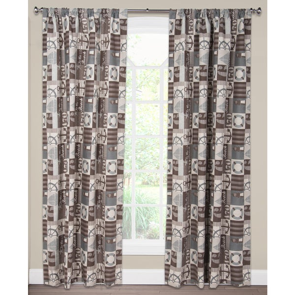 To The Beach Curtain Panel